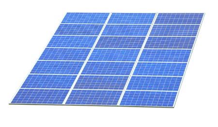 Solar Panels with white background  photo