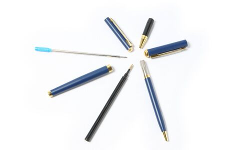 4 color printing: set of colorful pens