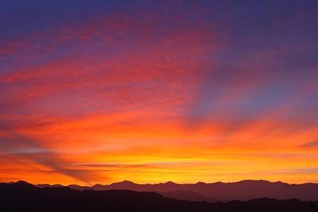 fondo azul: Beautiful sunrise