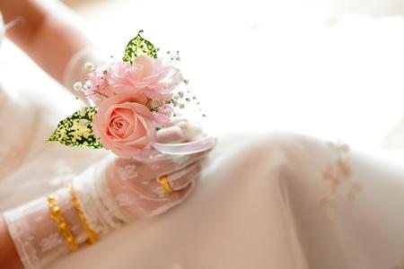 Romantic Rose in bride Stock Photo - 10749743