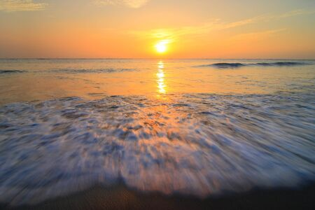 Golden sunset and sea waves Stock Photo - 10859924