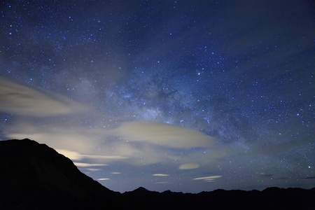 polaris: Amazing starry night accompany with mountain