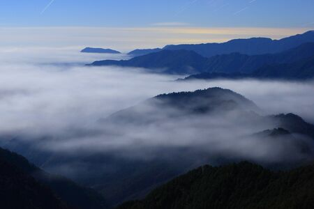 Fog on the mountain photo