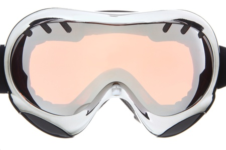 Beautiful sliver ski goggles  photo