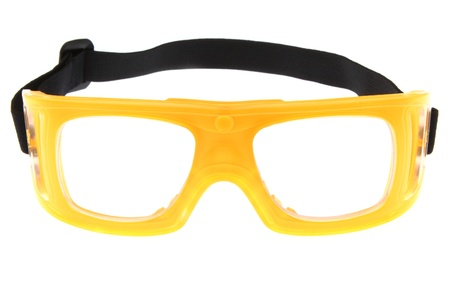 protective spectacles: yellow protect eye goggles