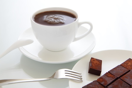 coffee hour: hot chocolate and chocolate bricks