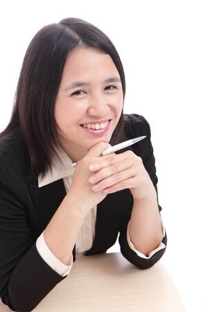 Cute Office Lady smiles Stock Photo - 10890804