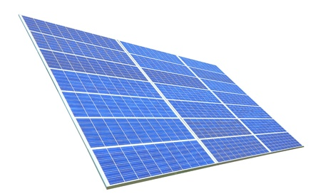 Solar Panel with white background Stock Photo - 10965224