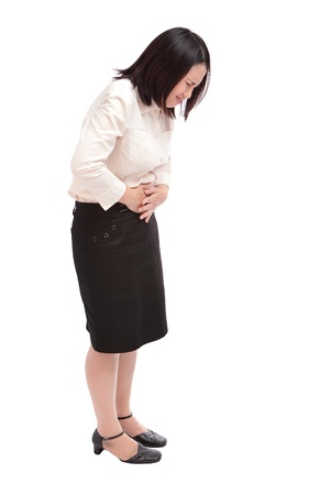Business woman with stomach issues Stock Photo - 10965141