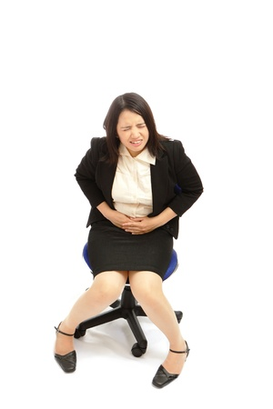 Business asian woman with  menstruation issues photo