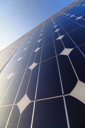 silicio: Batería de la célula solar panel de detalle y primeros planos