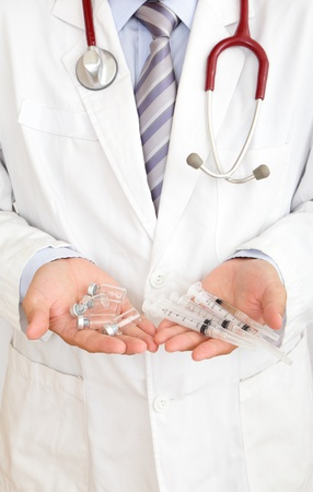 doctor holding injector Stock Photo - 11146008