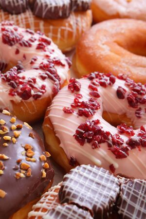 delicious and sweet donuts photo