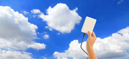 save data to the cloud Stock Photo - 11145909