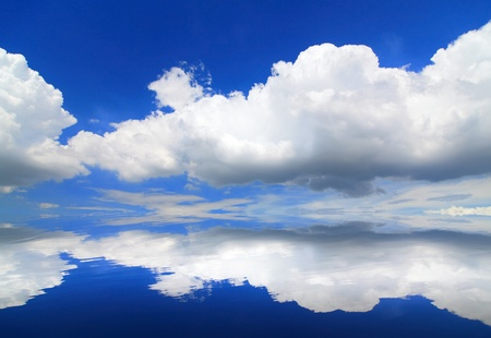 beautiful sky and cloud background photo