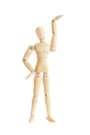 marioneta de madera: Figura de madera de levantar el brazo  mano