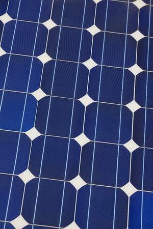 Solar cell battery panel detail and close-up photo