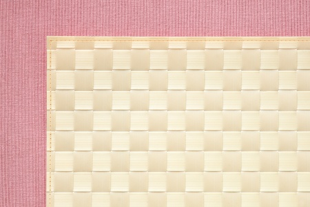 Plaid and pink background - tablecloth texture photo