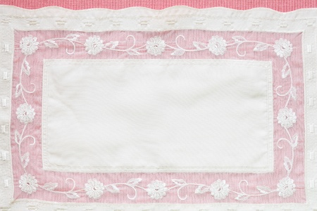 Beautiful Pink tablecloth and flower lace - tablecloth texture photo