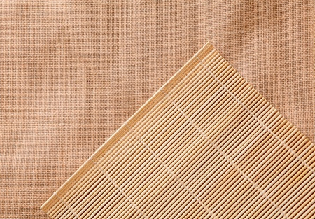 bamboo tablecloth - can be used as a texture background photo
