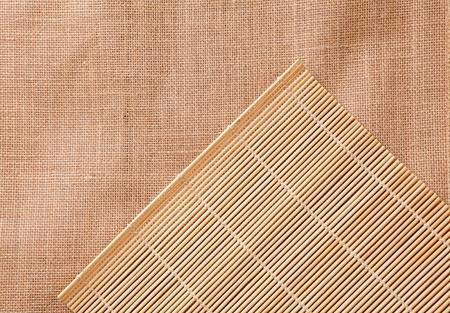 manteles: mantel de bamb� - se puede utilizar como una textura de fondo