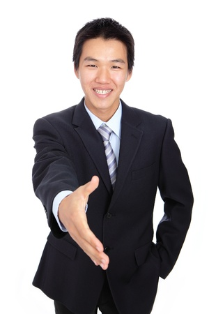 shakes hands: Young Business man handshake