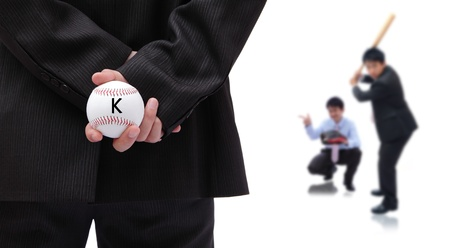 Business is like a baseball game, boss is pitcher, team work is only way to win photo