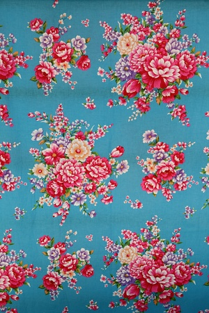 fabric cotton: traditional chinese cloth with beautiful flower style