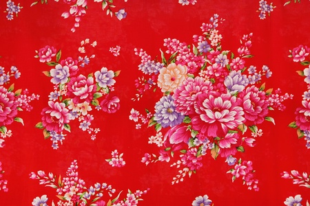 traditional chinese cloth with beautiful flower style photo