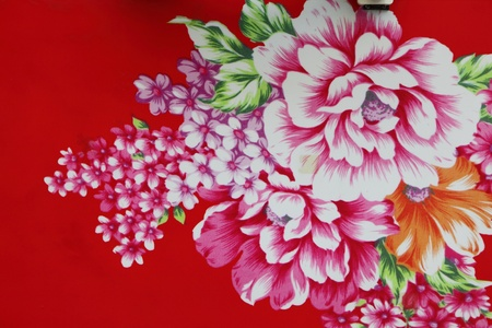 chinese flower: traditional chinese cloth with beautiful flower style