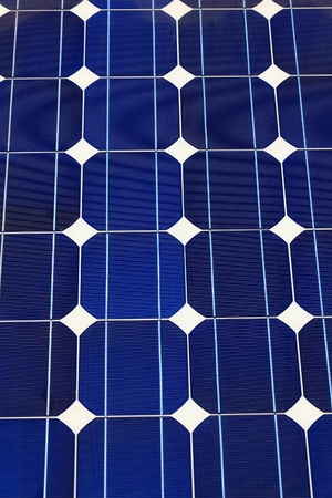 Solar panel (cell and battery) detail and close-up photo