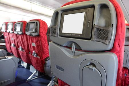 asiento: Monitor LCD en su asiento del avi�n de Air