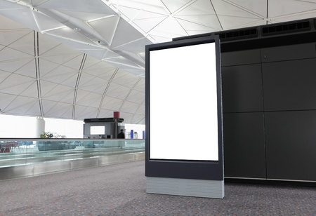 Blank Billboard in airport at hong kong Stock Photo - 12201524