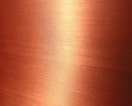 cobre: Bellas cobre cepillado textura con brillo brillante Foto de archivo