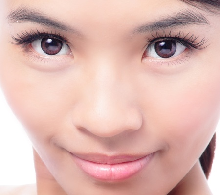 Young and beautiful woman clean face closeup, model is a asian beauty Stock Photo - 12209030