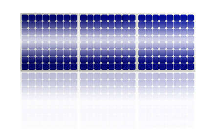 Solar Panel system isolated on white background photo