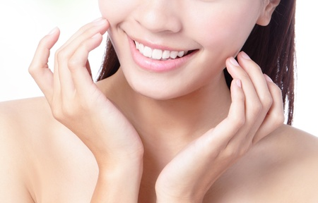 Close up a smiling mouth of the girl, model is a asian beauty Stock Photo - 12759210