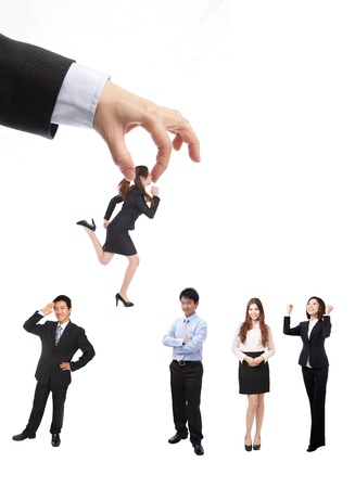 Human Resources concept: choosing the perfect candidate for the job, model are asian people Stock Photo - 13249158