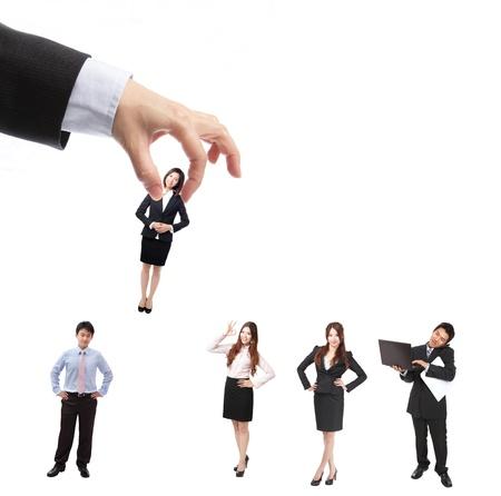 gespr�ch: Human Resources-Konzept: Wahl der perfekte Kandidat f�r den Job, sind Modell Asiaten Lizenzfreie Bilder