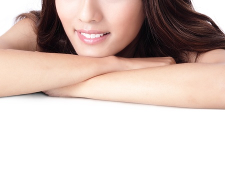 Close up a smiling mouth of the girl, model is a asian beauty Stock Photo - 13577986