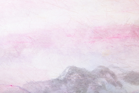 abstract Traditional Chinese painting art (mountain landscape) on paper texture with empty copy space, great for background photo