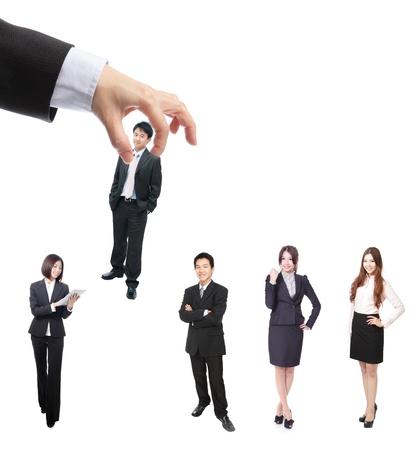 Human Resources concept: het kiezen van de perfecte kandidaat (zakenman) voor de job Stockfoto