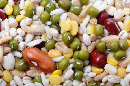 All kind of beans and legumes mix great for health photo