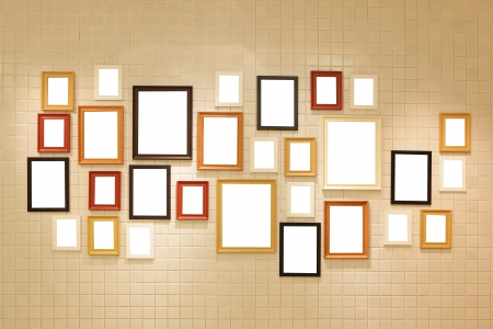 Picture frame , Photo art gallery on the wall. copy space great for your design Stock Photo - 17187241