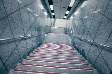 Staircase in underground passage with blue tone Stock Photo - 17261926