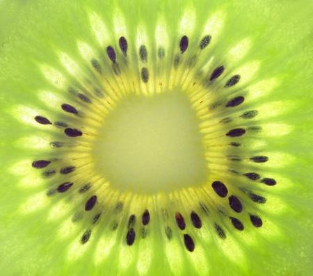 macro of fresh kiwi fruit, great for background Stock Photo