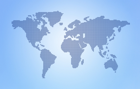 Dot World maps and globes business background photo