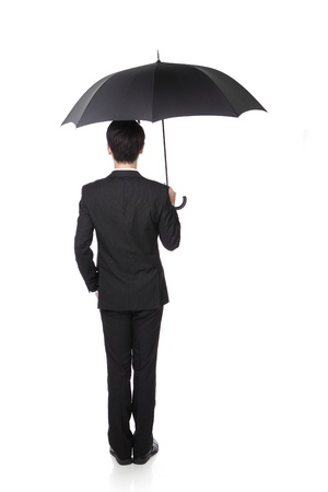 Business Man with an umbrella photo