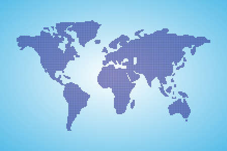 Dot World maps and globes business background Vector