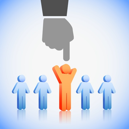 choosing: Human Resources concept: choosing the perfect candidate for the job Illustration